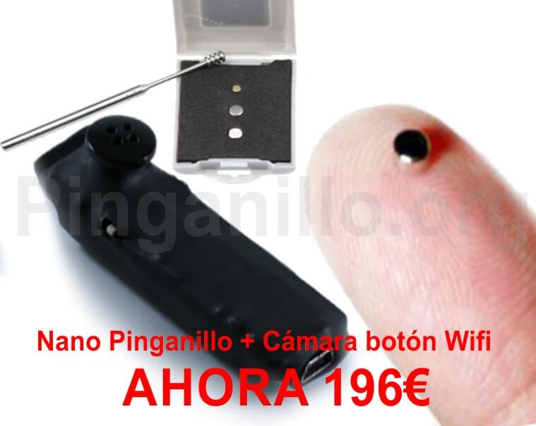 Pinganillo nano con camara boton wifi