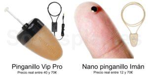 Pinganillo Vip vs Pinganillo nano iman comparativa